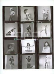 Cher Contact Sheet by Photographer Harry Langdon with Embossed Stamp Photo 79L