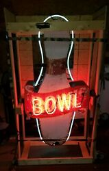 1950's Bowing Alley Pin 2 Sided Neon Sign 6 ft  (Free Delivery to Chicagoland)