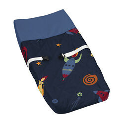 Galactic Changing Table Pad Cover For Sweet Jojo Space Galaxy Baby Bedding Set