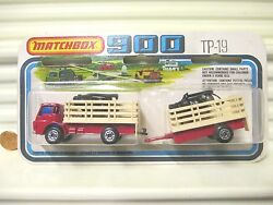 Lesney Matchbox 1978 Tp19 Cattle Truck +trailer Two Pack New In Unopened Package