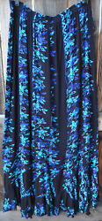 Art To Wear Mission Canyon Flirty 30 Skirt In Fabulous Night Bloom, One Size