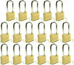 Master Lock Solid Brass 175lh Lot Of 17 Set To Your Own Combination Padlock