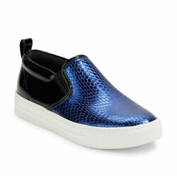 Marc by Marc Jacobs Shoes Slip On Embossed Leather Size 8 9 Blue Red NEW
