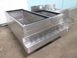 Glas Tender Bartender Station W/8 Lines Cold Plate Ice Bin Speed Rail And Sink