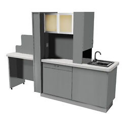 Signature Series Center Island Cabinet Open Dental - Choose Color -Frosted Glass