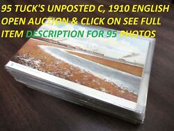 95 Unposted Antique Tuck's English Postcards In Holders Artist Signed Ouillett
