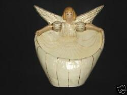 Vintage Paper Mache Handcrafted Angel Wall Pocket 16 Inches Tall Handmade Angel