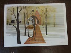 P. Buckley Moss 1982 Wedding Day Signed Print 540/1000 Sold Out As Is