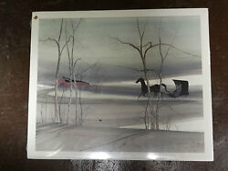 P. Buckley Moss Shadowy Ride Large Signed Print 1995 260/1000 Sold Out