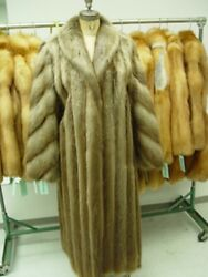 Brand New Long Haired Beaver Fur Coat Jacket Women Woman Size All