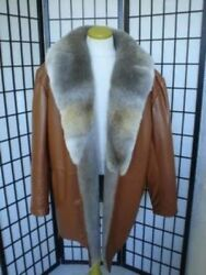 Brand New Leather And Coyote Fur Coat Jacket Men Man Size All