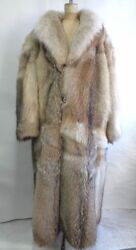 BRAND NEW NATURAL CANADIAN COYOTE FUR DOUBLE SIDED JACKET COAT MEN MAN SIZE ALL