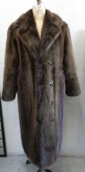 Brand New Canadian Long Haired Beaver Fur Coat Jacket Men Man Size Size All