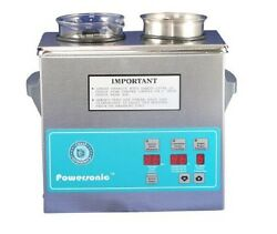 New Crest Powersonic P230d 132khz Ultrasonic Cleaner Power Control With Basket
