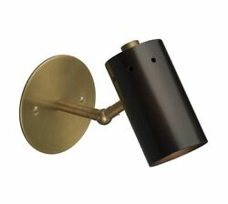 Pottery Barn Colton Sconce Light Antique Brass W/ Adjustable Shade 1811