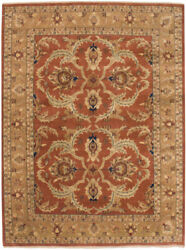 RRA 9x12 Indo Sultanabad Design Covered Rust Field Rug 23116
