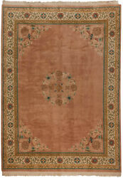 Rra 10x14 9and0397x13and0396 Rose Pink Peking Design Japanese Rug 28922