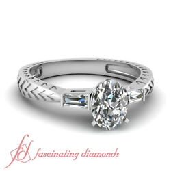 .60 Ct Oval Shaped Diamond 14k Gold Vintage Engagement Ring For Women Si1-f Gia