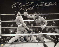 Iron Mike Tyson Autographed Signed 16x20 Photo Vs Ali Asi Proof