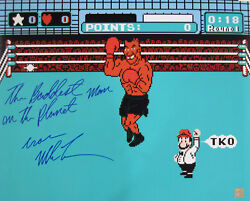 Iron Mike Tyson Autographed Signed 16x20 Photo Nintendo Punch Out Asi Proof