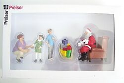 New Preiser 44931 G Scale Santa In Chair With Mother And Children Figures