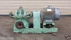 Krogh Carver 40 Hp Centrifugal Pump 6 X 6 In / Out Process Machinery