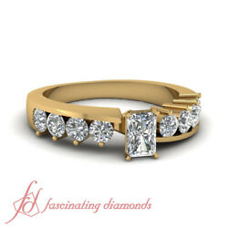 1.15 Ct Handmade Engagement Ring For Women With Radiant Diamond In Yellow Gold