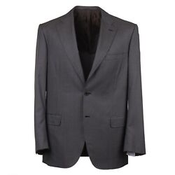 Brioni Mini Houndstooth Check Patterned Lightweight Wool And Silk Suit 44r