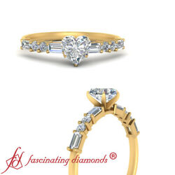 Heart Shaped Diamond Vintage Classic Engagement Ring In 18k Yellow Gold 0.90 Ctw