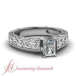 Vintage Style 0.65 Ct Radiant Cut Diamond Rings For Women Engagement Solitaire