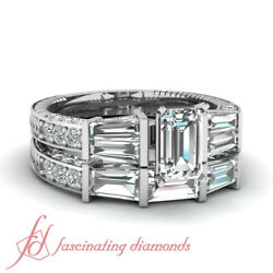 2.50 Ct Emerald Cut Diamond Sundry Design Engagement Rings And Bands For Women