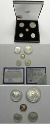 Rare South Africa 5-coin 1996 Natura Gold And 2002 Silver Elephant Set In Box