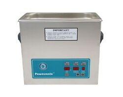 New Crest Powersonic P500d 1.5 Gallon 45khz Ultrasonic Cleaner With Basket