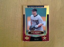 Jeff Bagwell 2003 Upper Deck Ultimate Collection Gold Card 36/50 Chipped Edges