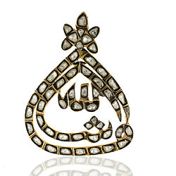 4.69ct Rose Cut Diamond Designer Pendant 18k Solid Yellow Gold Gift Jewelry
