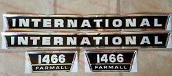 New Hood And Side Panel Decal Set For Ih 1466 Tractor International Farmall Decals