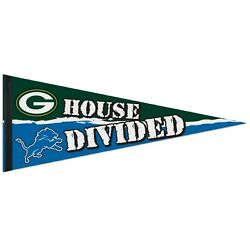 Green Bay Packers Detroit Lions House Divided Felt Pennant 12x30 New Wincraft