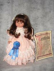 Old German Made Factory 1989 Made Lissi Doll Of The Year Brown Glass Eyes