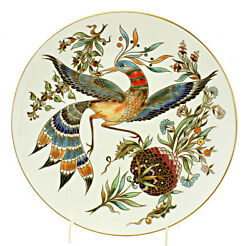 Zsolnay Decorative Porcelain Wall Plate With Bird