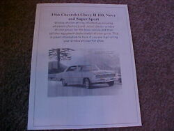 1966 Chevrolet Chevy Ii Nova Fact Cost/dealer Sticker Prices For Car And Options