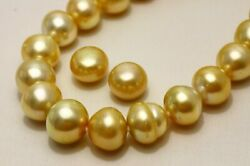 South Sea Pearl Necklaces and  Earrings 12-14mmPairs:13mmUP Natural Gold Color