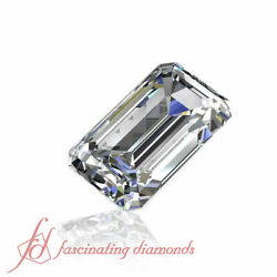 0.50 Ct Emerald Cut Discounted Loose Diamond For Sale-vvs2-d Color Gia