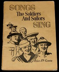 World War I 1918 Doughboy Booklet Songs The Soldiers And Sailors Sing Leo Feist