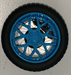 118 AB Models Wheels and Tires Set Sky Forged Wheels Baby Blue AB1006C