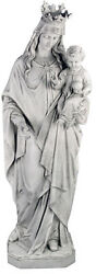 65 Blessed Virgin Mary And Child Jesus Christian Religious Sculpture Statue