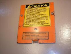 Case Ingersoll 448 Tractor Mower Dash Tower Inspection Plate