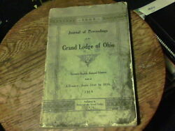 1910 Journal Of Proceedings Of The Grand Lodge Of Ohio