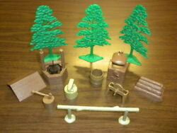 Roy Rogers Rodeo Ranch 3986 Marx Accessories Well Oven Trees Anvil More Lot 2