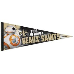 New Orleans Saints Star Wars Bb-8 This Is How I Geaux Saints Pennant 12x30 New
