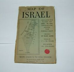 Judaica Jewish Chronicle Colorful Booklet Map Of Israel Jerusalem Middle East
